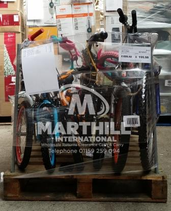 Ex Cat High St Bikes Returns Pallet 8212565